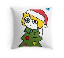 Happy Holida- No.  Throw Pillow