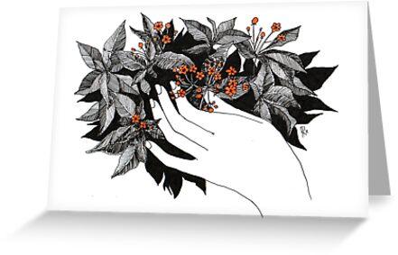 Orange Flowers by Aleksandra Kabakova