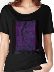 USGS Topo Map Washington State WA Louie Creek 242076 1989 24000 Inverted Women's Relaxed Fit T-Shirt