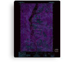 USGS Topo Map Washington State WA Louie Creek 242076 1989 24000 Inverted Canvas Print