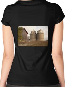 Two Silo's Talking About The Barn Women's Fitted Scoop T-Shirt