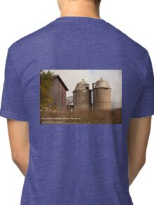 Two Silo's Talking About The Barn Tri-blend T-Shirt