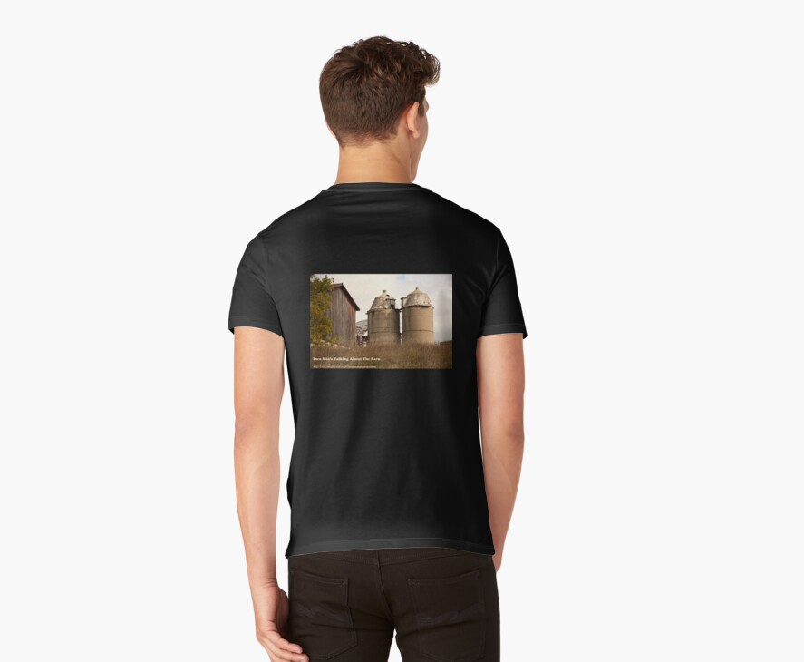 Two Silo's Talking About The Barn by Thomas Murphy