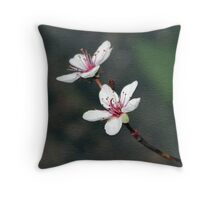 Purple Leaf Sand Cherry Book Cover Throw Pillow