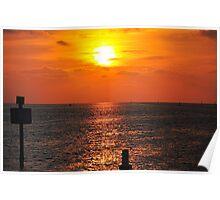 Sunset at Bayport Poster