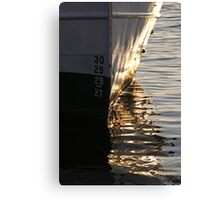 Gothenburg quayside reflections Canvas Print