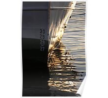 Gothenburg quayside reflections Poster