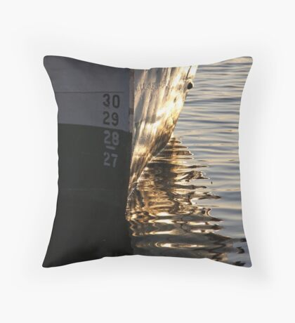 Gothenburg quayside reflections Throw Pillow