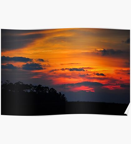 Sunset on Bayou Drive Poster