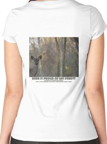 DEER IS PROUD OF HIS FOREST Women's Fitted Scoop T-Shirt