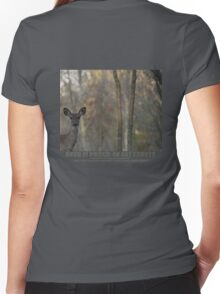 DEER IS PROUD OF HIS FOREST Women's Fitted V-Neck T-Shirt