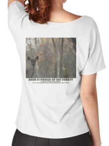 DEER IS PROUD OF HIS FOREST Women's Relaxed Fit T-Shirt