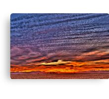 Ripples of  Sunset Canvas Print
