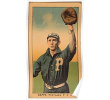 Benjamin K Edwards Collection Rapps Portland Team baseball card portrait Poster