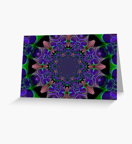 SpiroGuiloche Kaleidoscope Greeting Card