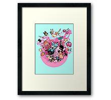 Exploding Gumball (Bubble Glum) Framed Print