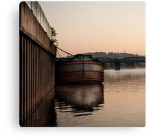 Trent Barge Canvas Print