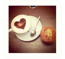 Love and a Muffin Art Print