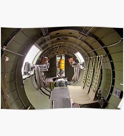 Waist guns of a B-17 Flying Fortress Poster