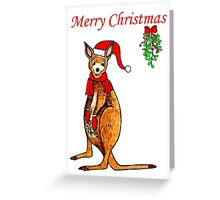 Christmas Kangaroo Greeting Card