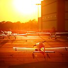 Airplanes at Sunset by ieatstars