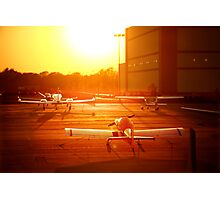 Airplanes at Sunset Photographic Print