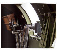 50 cal Waist Gun on a B-17 Poster