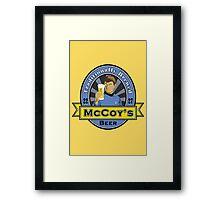 McCoy's Beer Framed Print