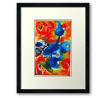 Blue Bird Fusion Framed Print