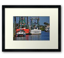 Shrimp Boats Framed Print