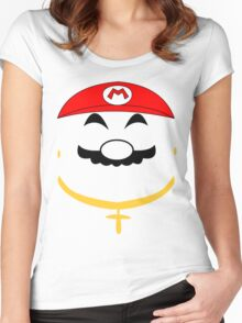 Super Gangster Mario Women's Fitted Scoop T-Shirt