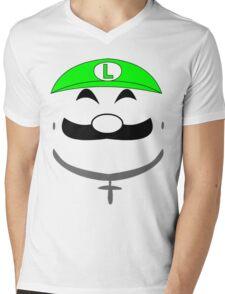 Super Gangster Mario - Luigi Mens V-Neck T-Shirt