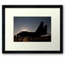 F-15 at dawn on the ramp Framed Print