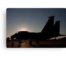 F-15 at dawn on the ramp Canvas Print