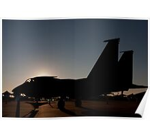 F-15 at dawn on the ramp Poster