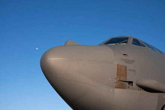 B-52 with the moon at it's nose by bleriger