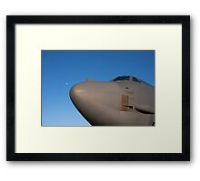 B-52 with the moon at it's nose Framed Print