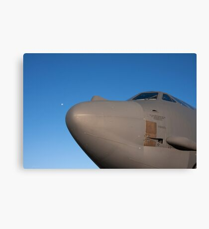 B-52 with the moon at it's nose Canvas Print