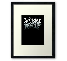 Shattered Reality Logo White Framed Print