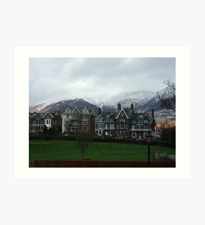 winter snow in the lake district Art Print