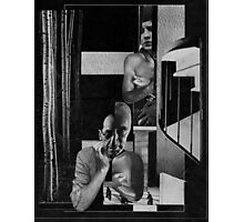 Conversation Between Two people in a Tower Block. Photographic Print