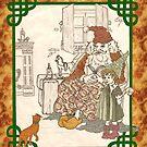Kris Kringle Tabby Cat by redqueenself