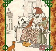 Kris Kringle Tabby Cat by redqueenself