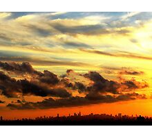 Sunset Clouds in New York City Photographic Print