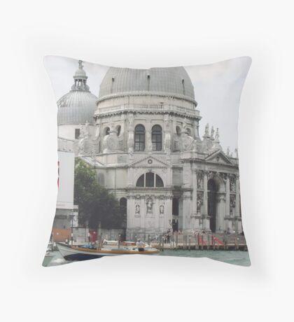 """Basilica """"S.Maria della Salute"""" città di VENEZIA - ITALY - EUROPA - VETRINA RB EXPLORE 6 DICEMBRE 2011 - - Throw Pillow"""