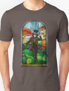 Mad Hatter Stained Glass Unisex T-Shirt
