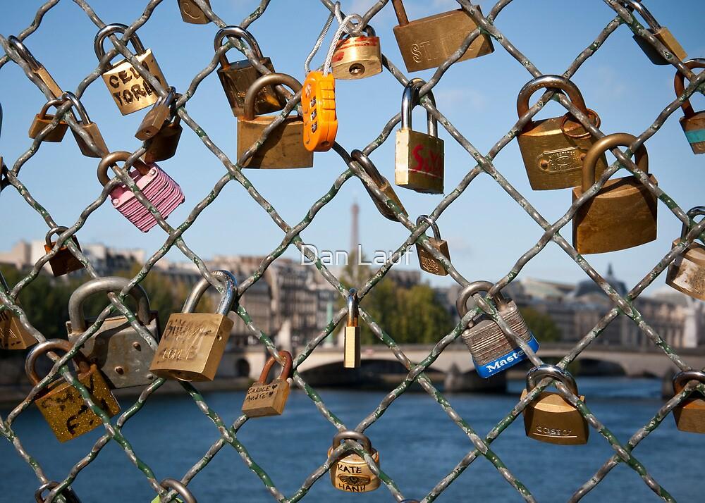 Love Padlocks in Paris by Dan Lauf