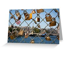 Love Padlocks in Paris Greeting Card