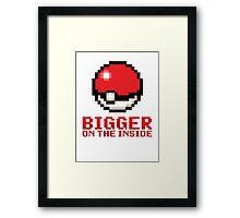 Pokeball - Bigger on the Inside Framed Print