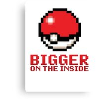 Pokeball - Bigger on the Inside Canvas Print